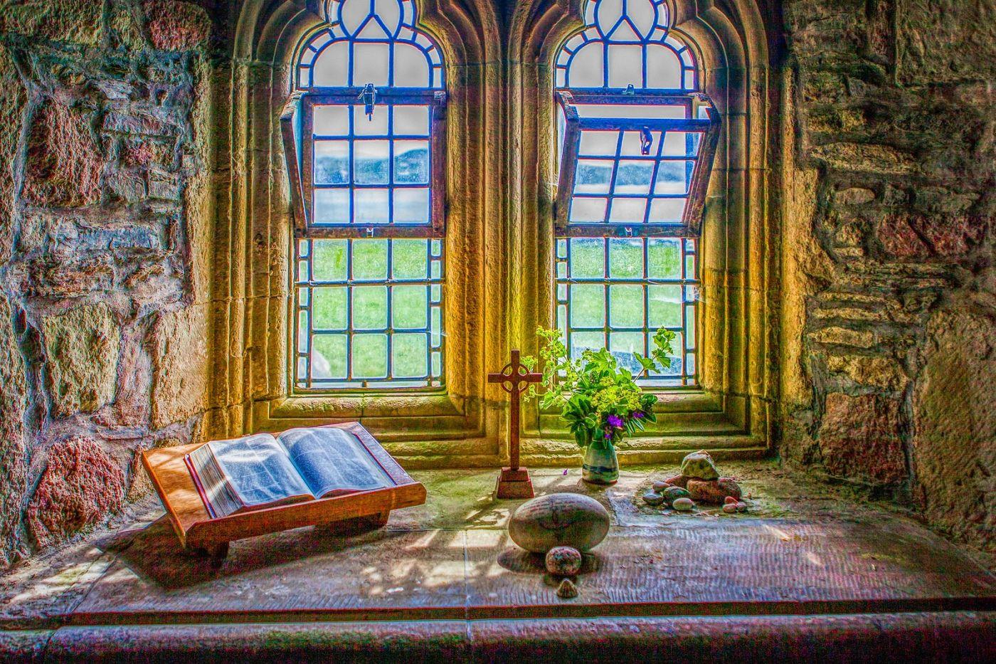 苏格兰圣奥兰教堂(St Oran's Chapel),小教堂大视野_图1-27