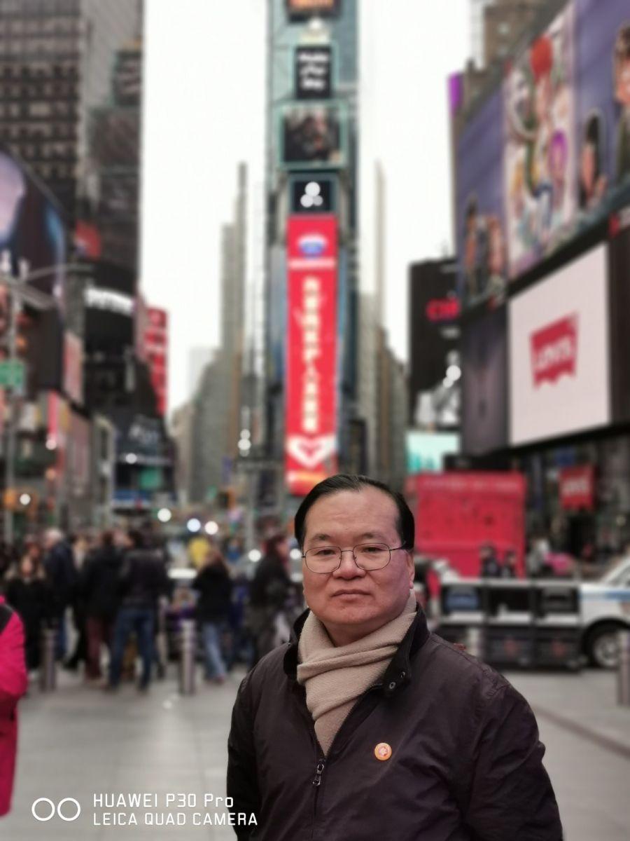 """纽约闽籍侨团时报广场""""中国加油""""为国人鼓劲_图1-3"""