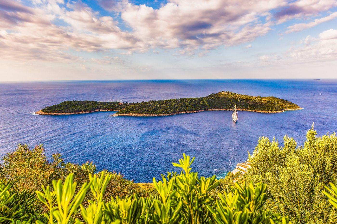 克罗地亚杜布罗夫尼克(Dubrovnik),远眺古城_图1-13