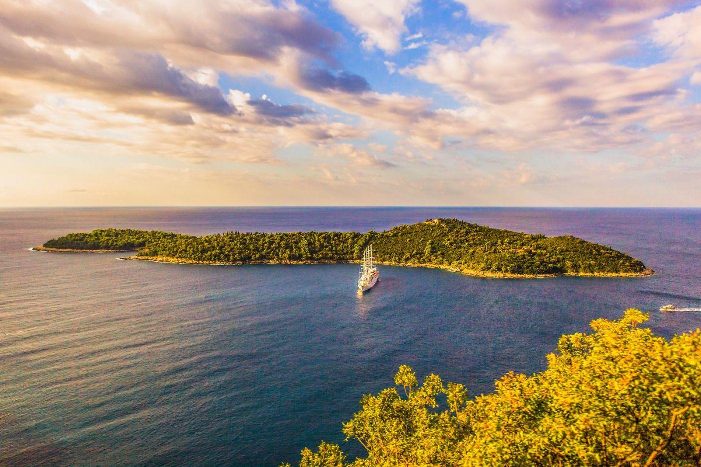 克罗地亚杜布罗夫尼克(Dubrovnik),远眺古城_图1-16