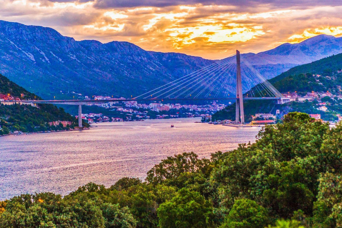 克罗地亚杜布罗夫尼克(Dubrovnik),远眺古城_图1-9
