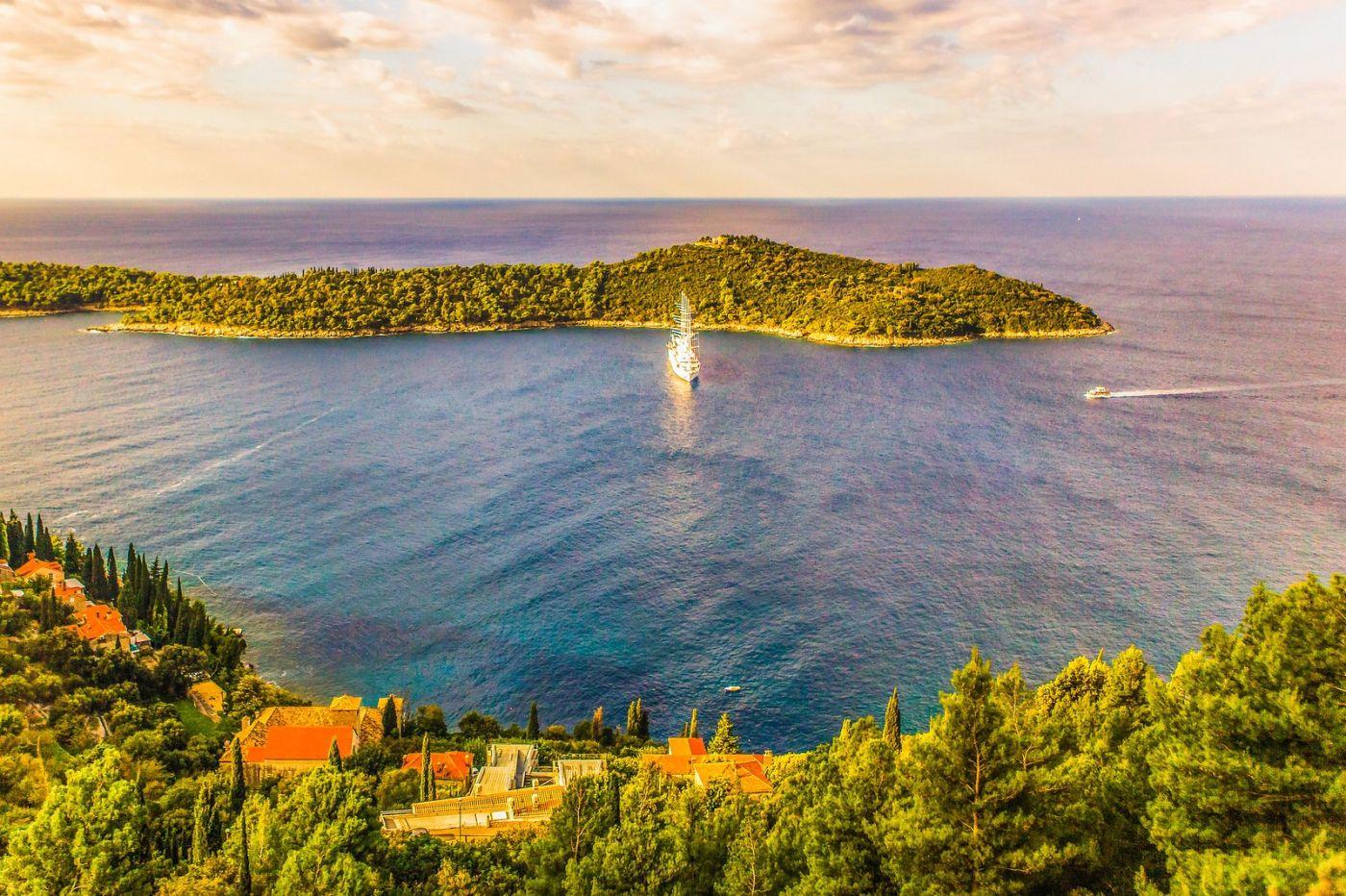 克罗地亚杜布罗夫尼克(Dubrovnik),远眺古城_图1-15