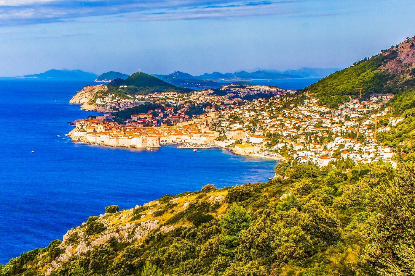 克罗地亚杜布罗夫尼克(Dubrovnik),远眺古城_图1-11