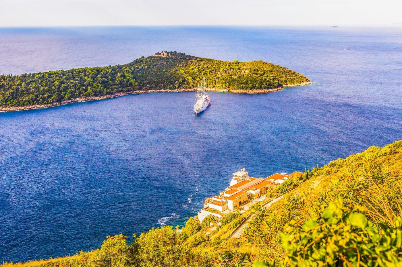 克罗地亚杜布罗夫尼克(Dubrovnik),远眺古城_图1-5