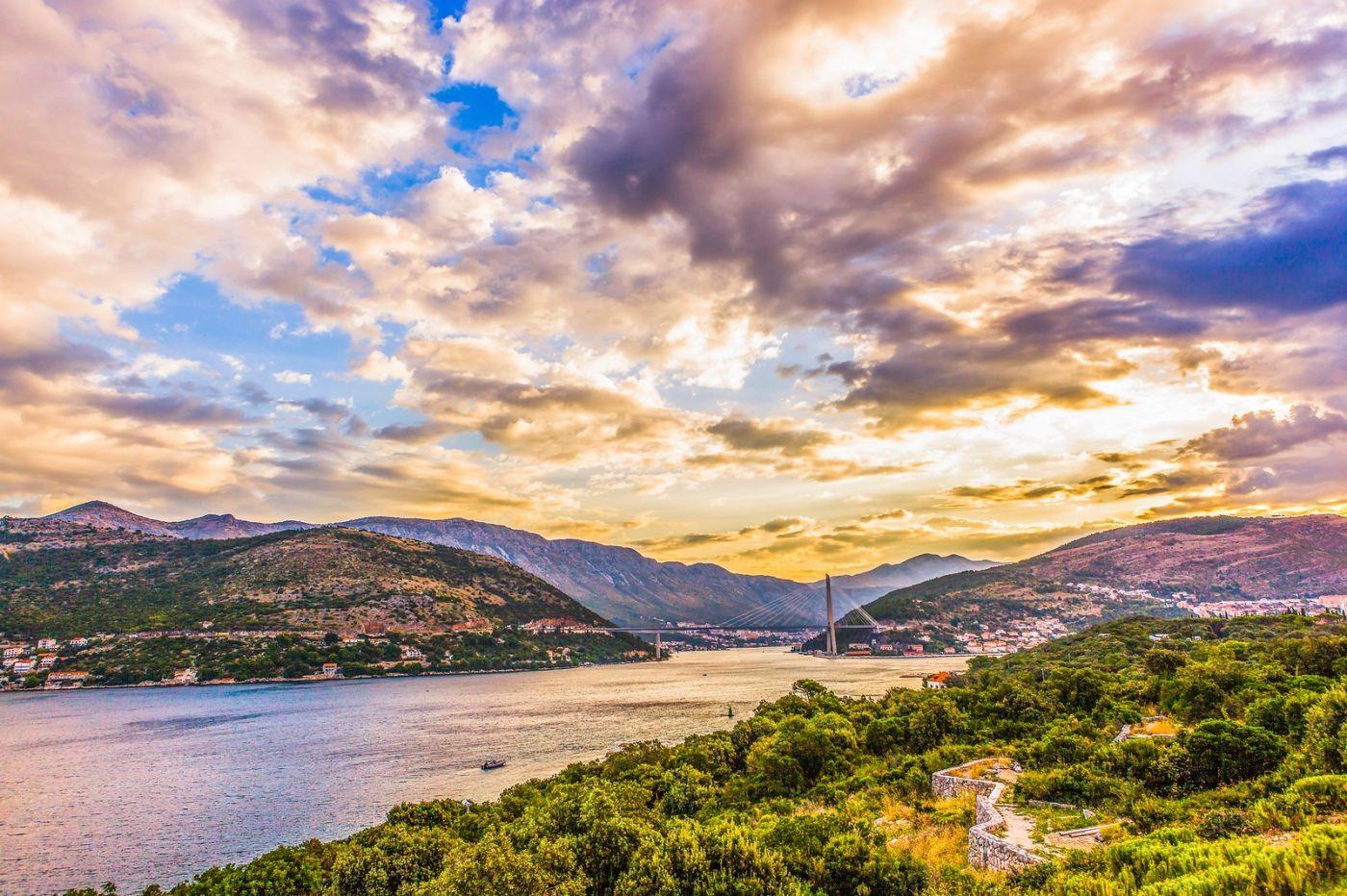克罗地亚杜布罗夫尼克(Dubrovnik),远眺古城_图1-7