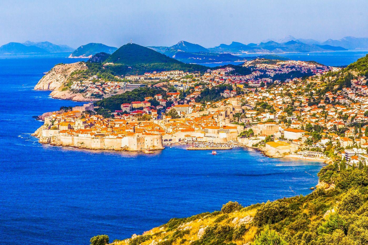 克罗地亚杜布罗夫尼克(Dubrovnik),远眺古城_图1-8