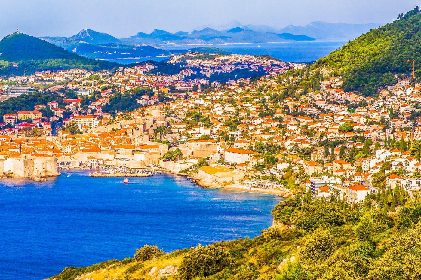 克罗地亚杜布罗夫尼克(Dubrovnik),远眺古城_图1-20