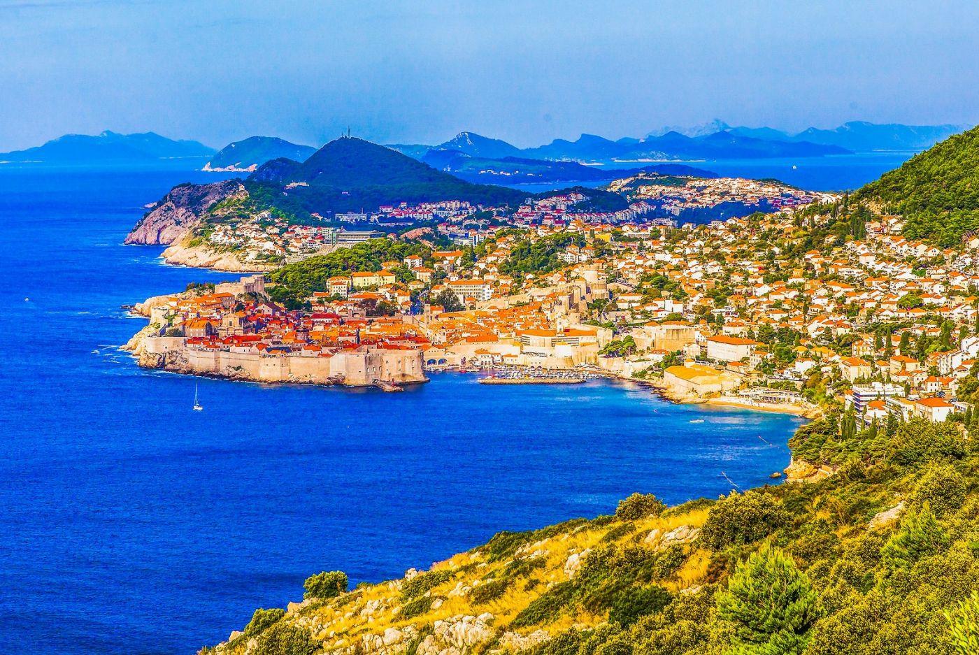 克罗地亚杜布罗夫尼克(Dubrovnik),远眺古城_图1-19