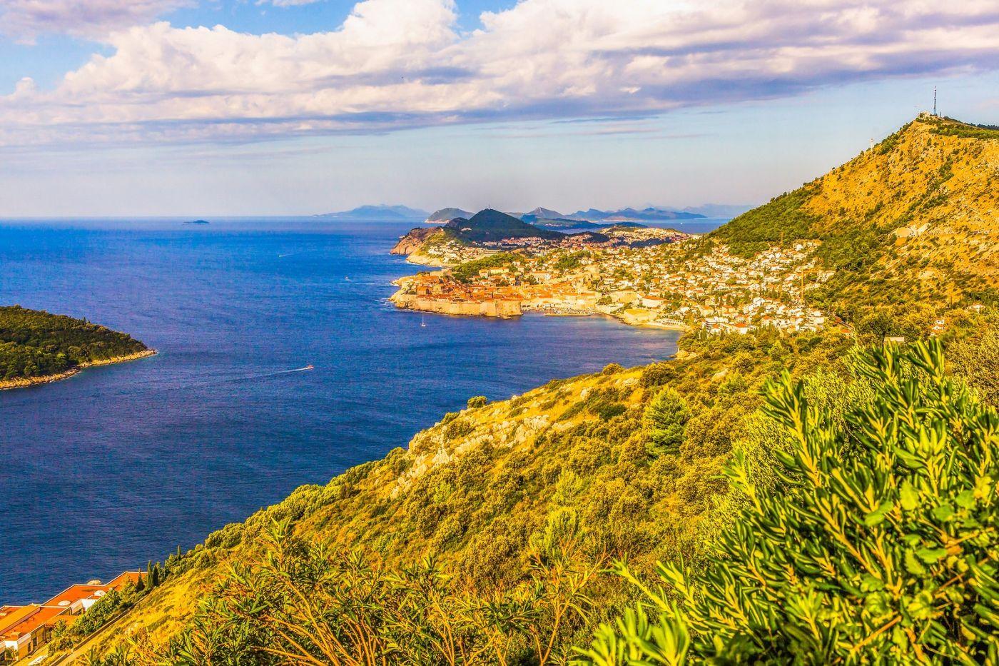 克罗地亚杜布罗夫尼克(Dubrovnik),远眺古城_图1-23