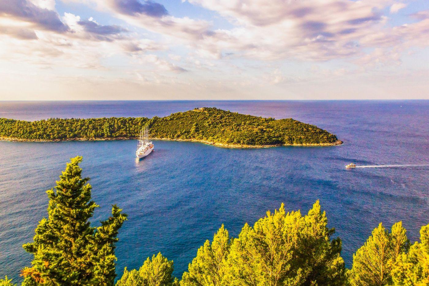克罗地亚杜布罗夫尼克(Dubrovnik),远眺古城_图1-24