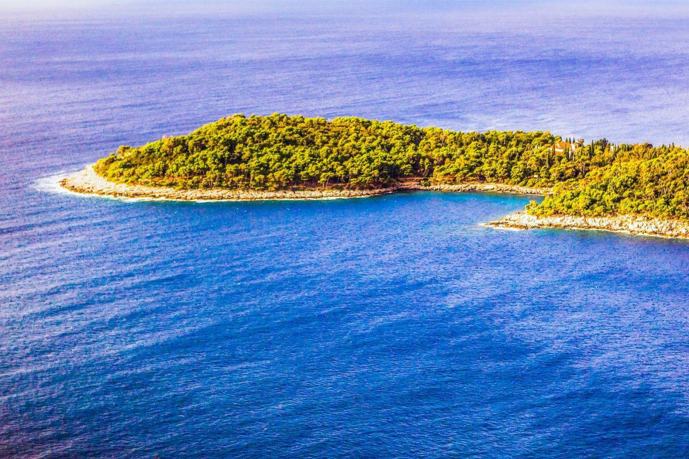 克罗地亚杜布罗夫尼克(Dubrovnik),远眺古城_图1-21