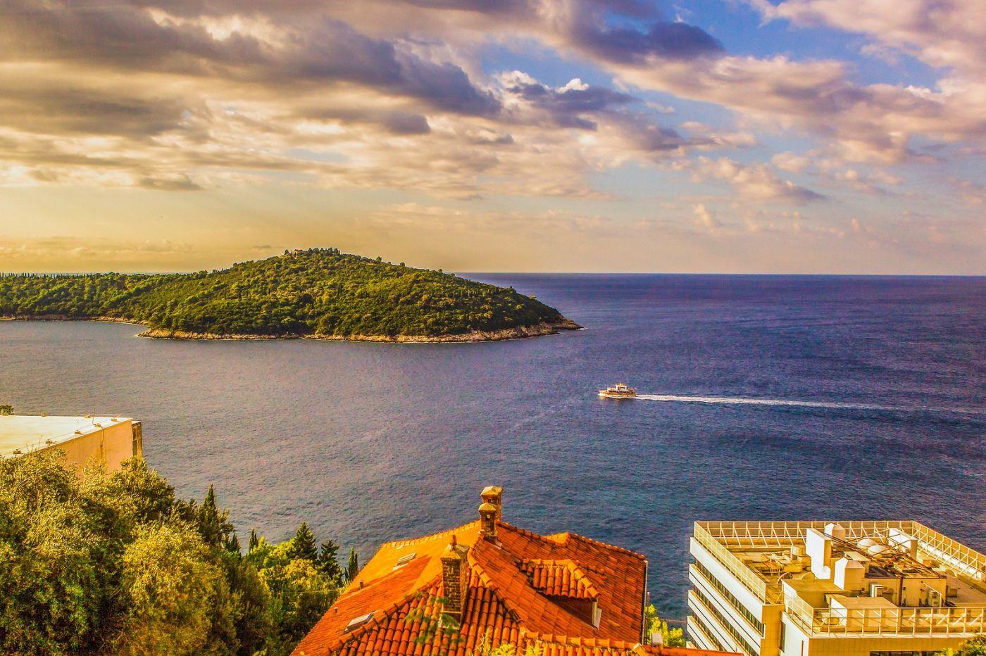 克罗地亚杜布罗夫尼克(Dubrovnik),远眺古城_图1-29