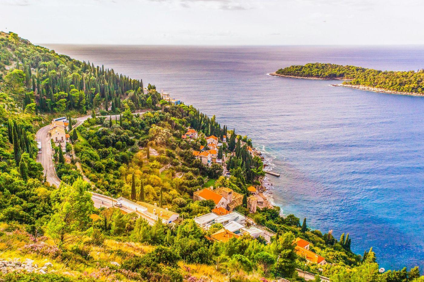 克罗地亚杜布罗夫尼克(Dubrovnik),远眺古城_图1-28
