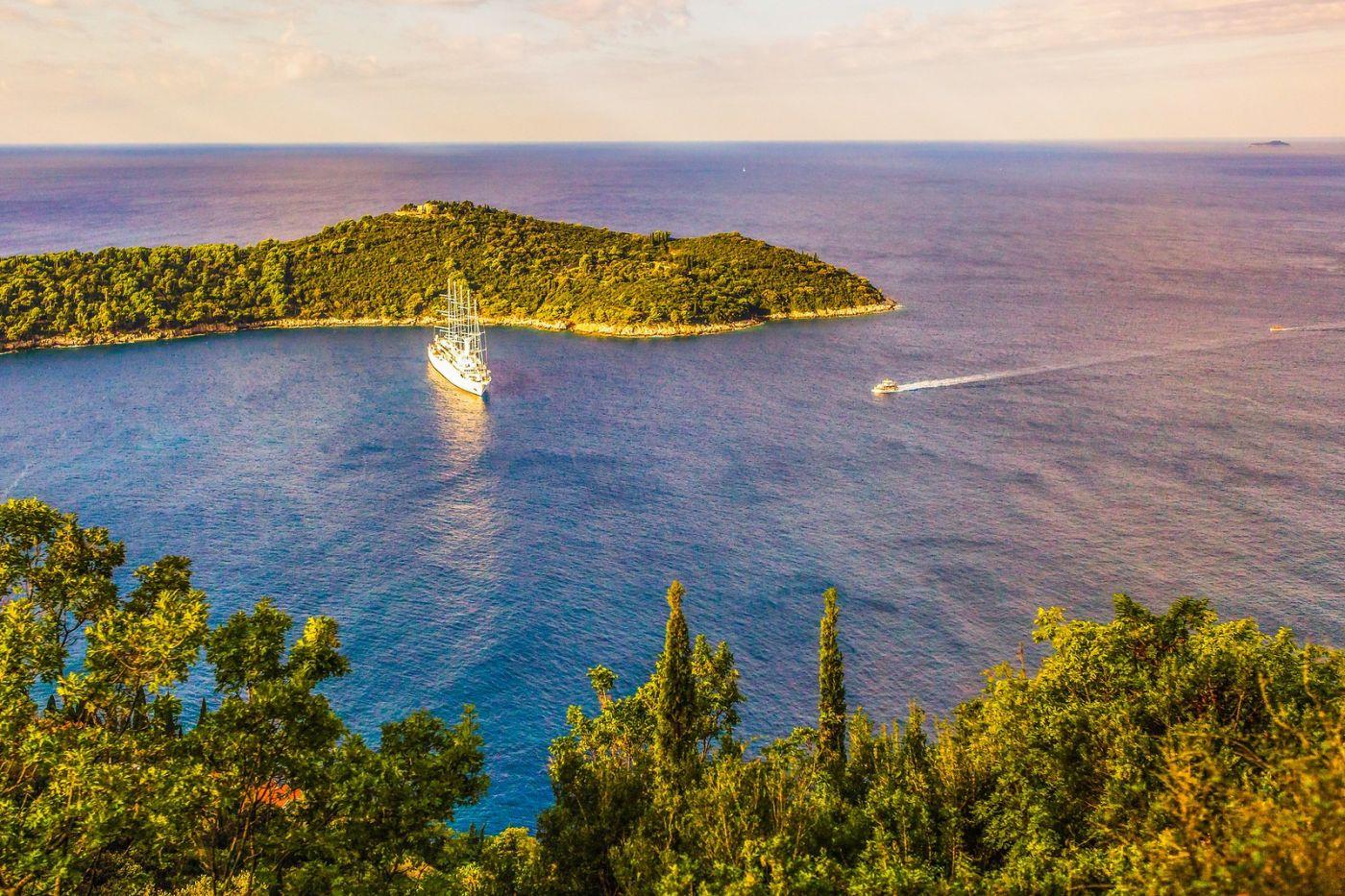 克罗地亚杜布罗夫尼克(Dubrovnik),远眺古城_图1-26