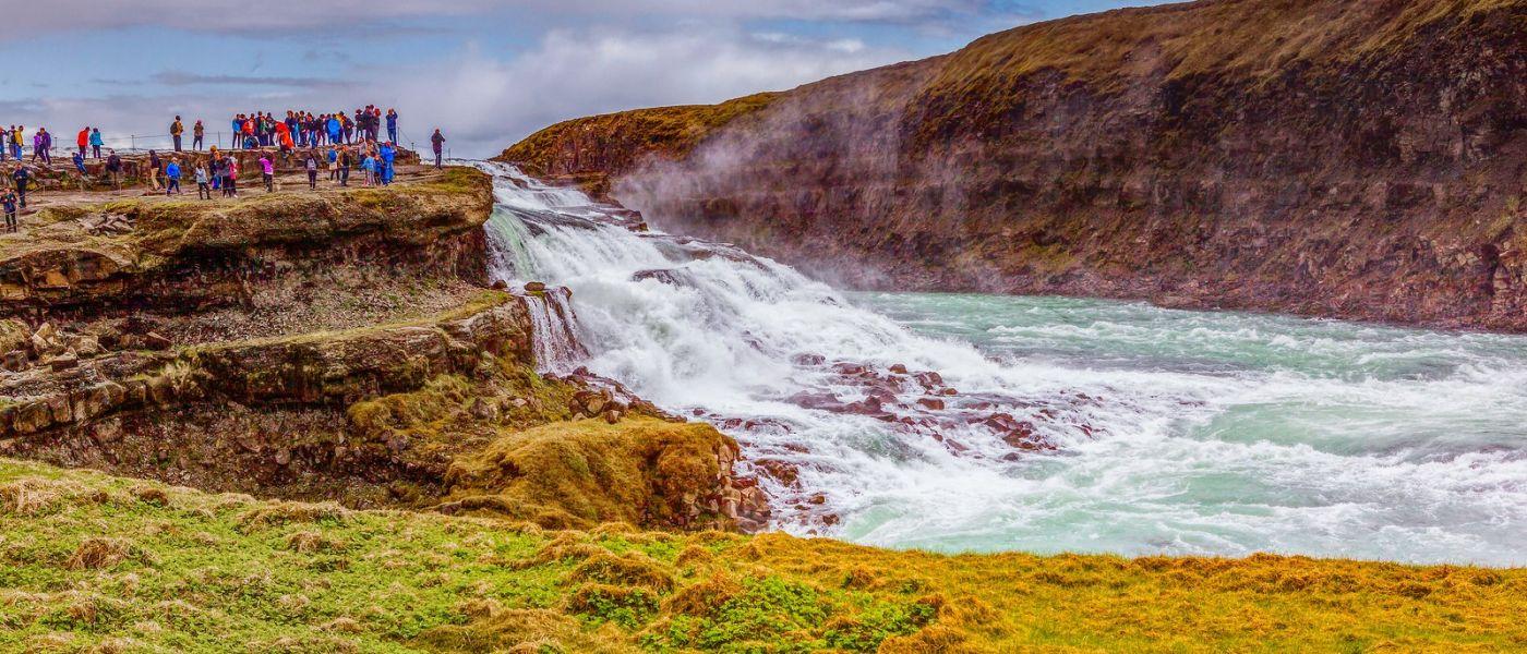 冰岛古佛斯瀑布(Gullfoss),景色壮观_图1-18