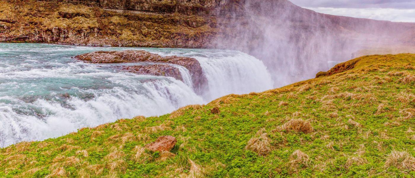 冰岛古佛斯瀑布(Gullfoss),景色壮观_图1-19