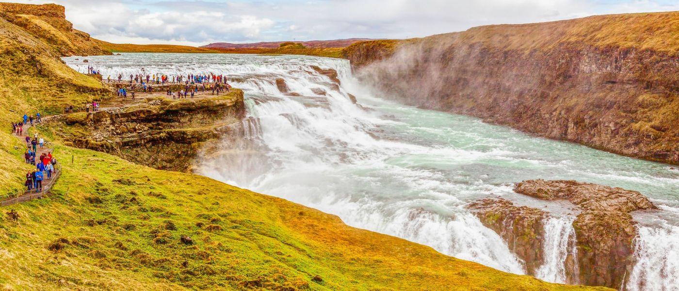 冰岛古佛斯瀑布(Gullfoss),景色壮观_图1-20