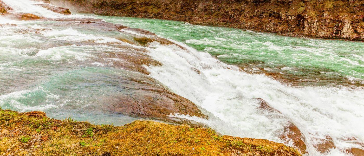冰岛古佛斯瀑布(Gullfoss),景色壮观_图1-14