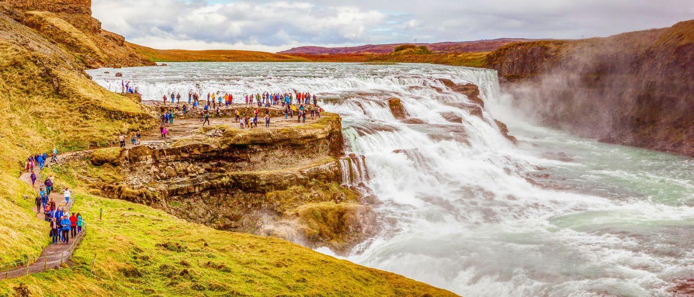 冰岛古佛斯瀑布(Gullfoss),景色壮观_图1-16