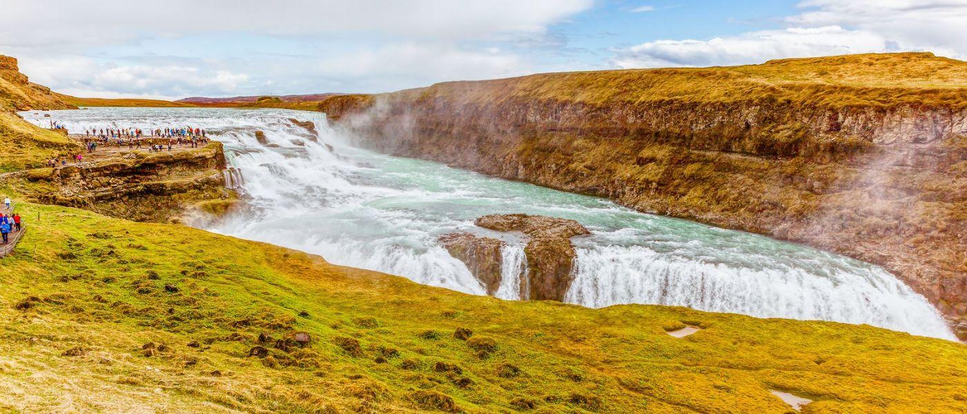 冰岛古佛斯瀑布(Gullfoss),景色壮观_图1-15