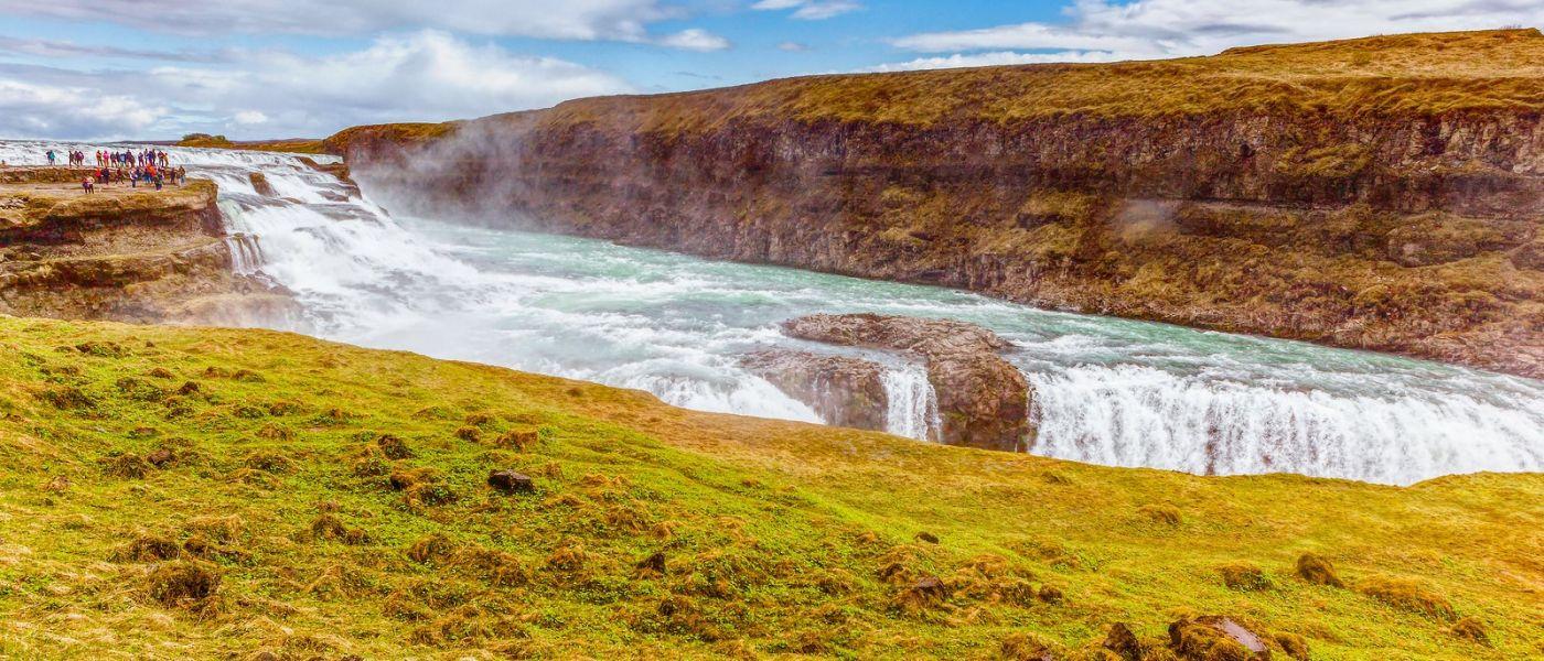 冰岛古佛斯瀑布(Gullfoss),景色壮观_图1-13