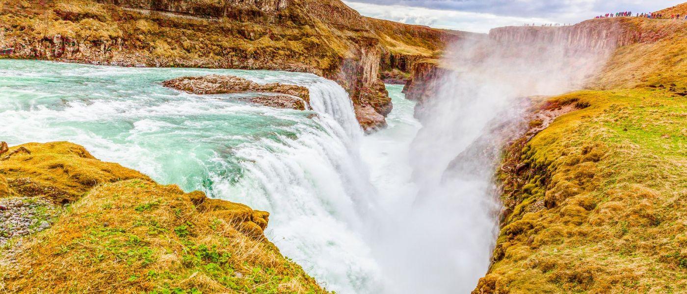 冰岛古佛斯瀑布(Gullfoss),景色壮观_图1-3