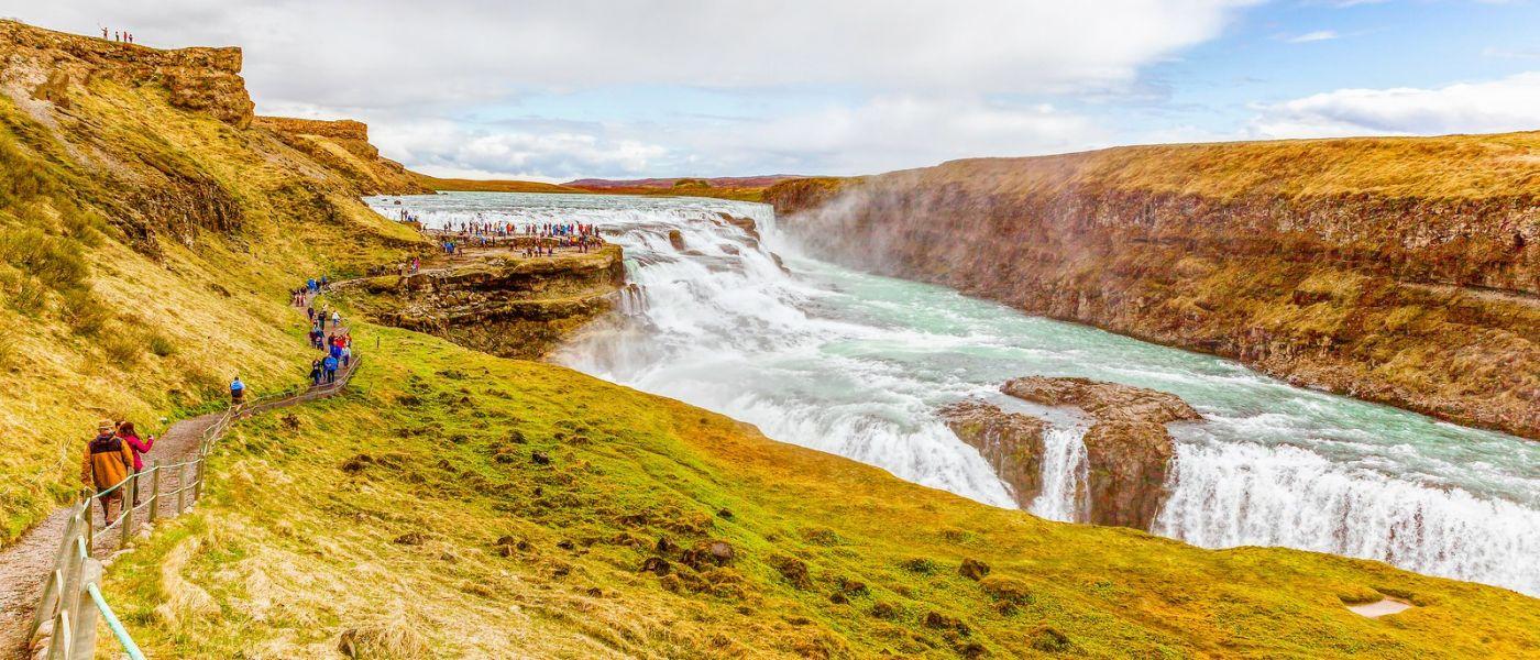 冰岛古佛斯瀑布(Gullfoss),景色壮观_图1-5
