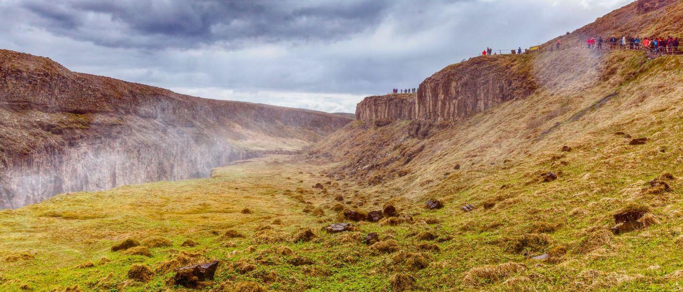 冰岛古佛斯瀑布(Gullfoss),景色壮观_图1-6