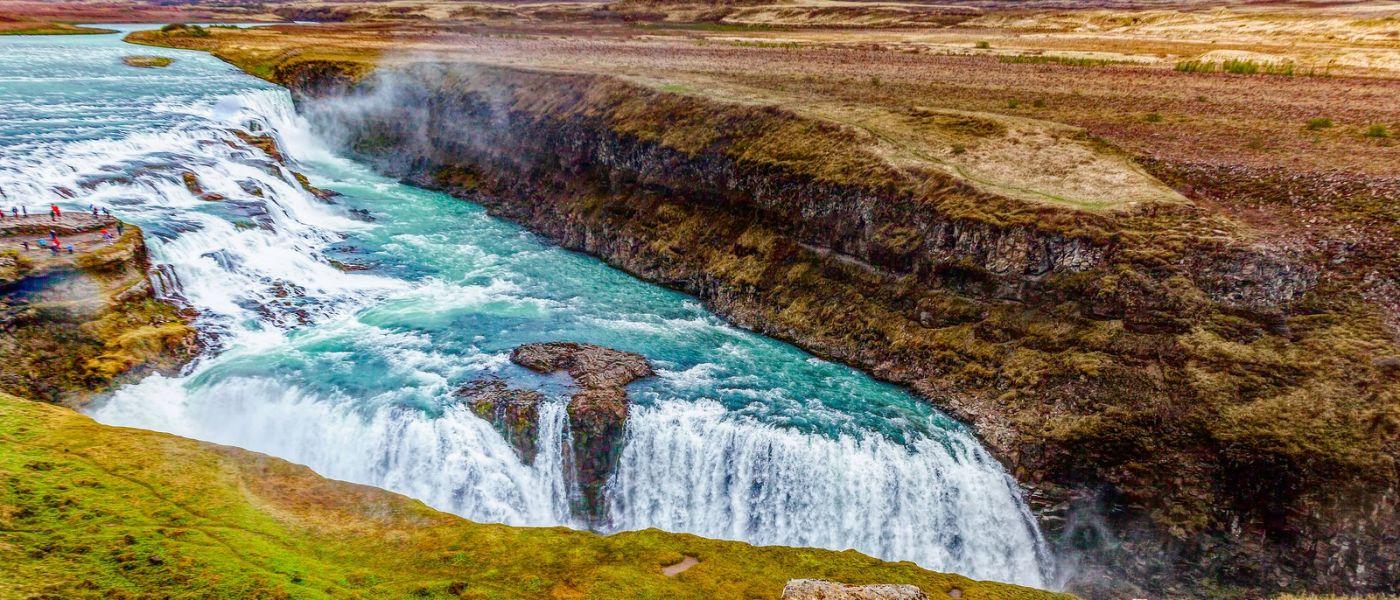 冰岛古佛斯瀑布(Gullfoss),景色壮观_图1-7