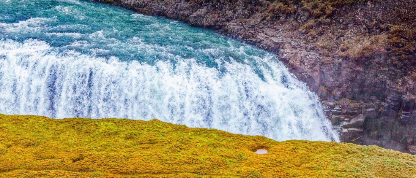 冰岛古佛斯瀑布(Gullfoss),景色壮观_图1-8