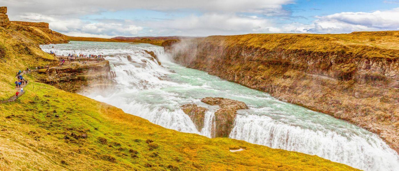 冰岛古佛斯瀑布(Gullfoss),景色壮观_图1-12