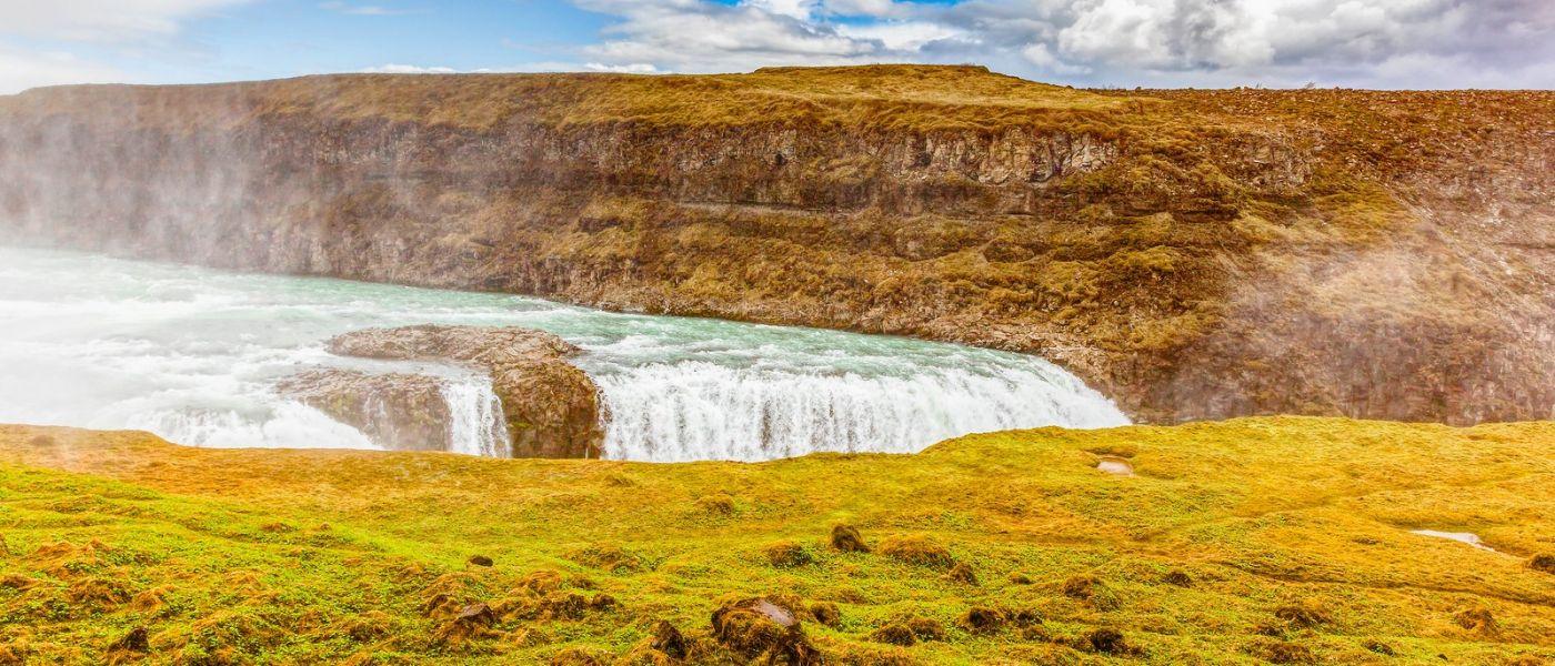 冰岛古佛斯瀑布(Gullfoss),景色壮观_图1-11