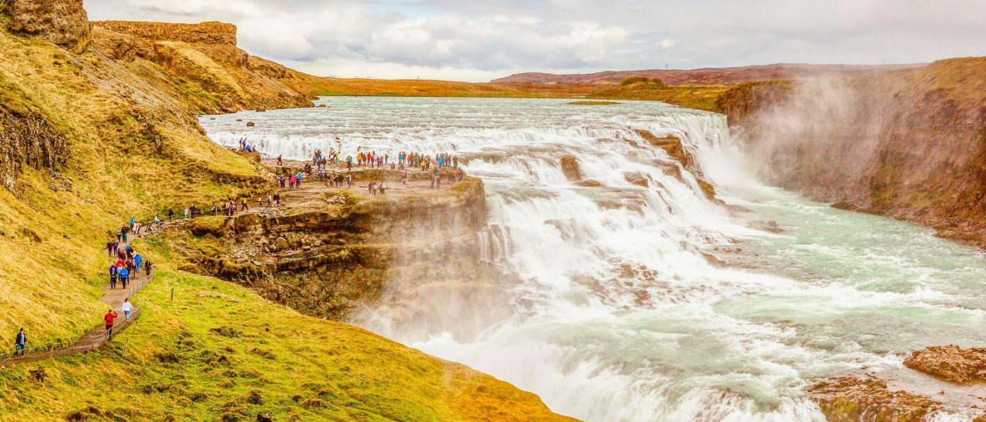 冰岛古佛斯瀑布(Gullfoss),景色壮观_图1-10