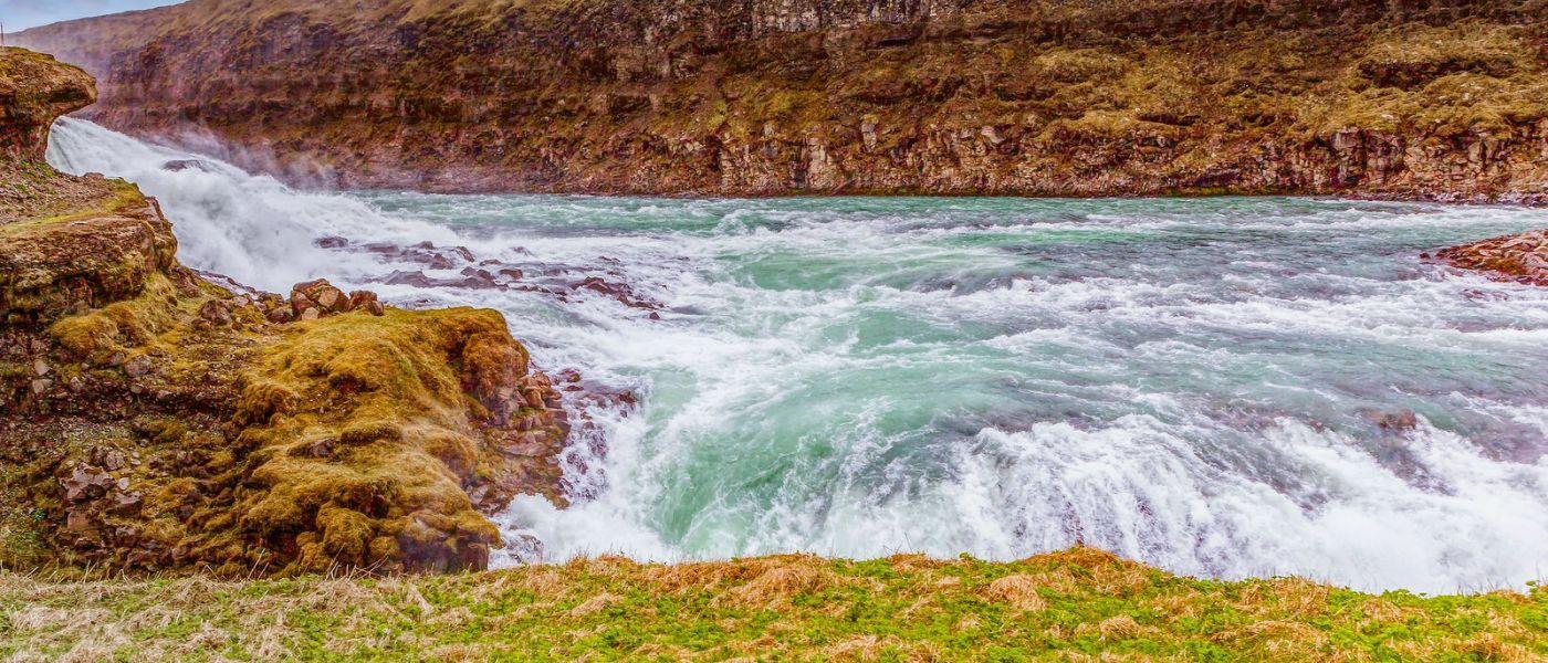 冰岛古佛斯瀑布(Gullfoss),景色壮观_图1-9