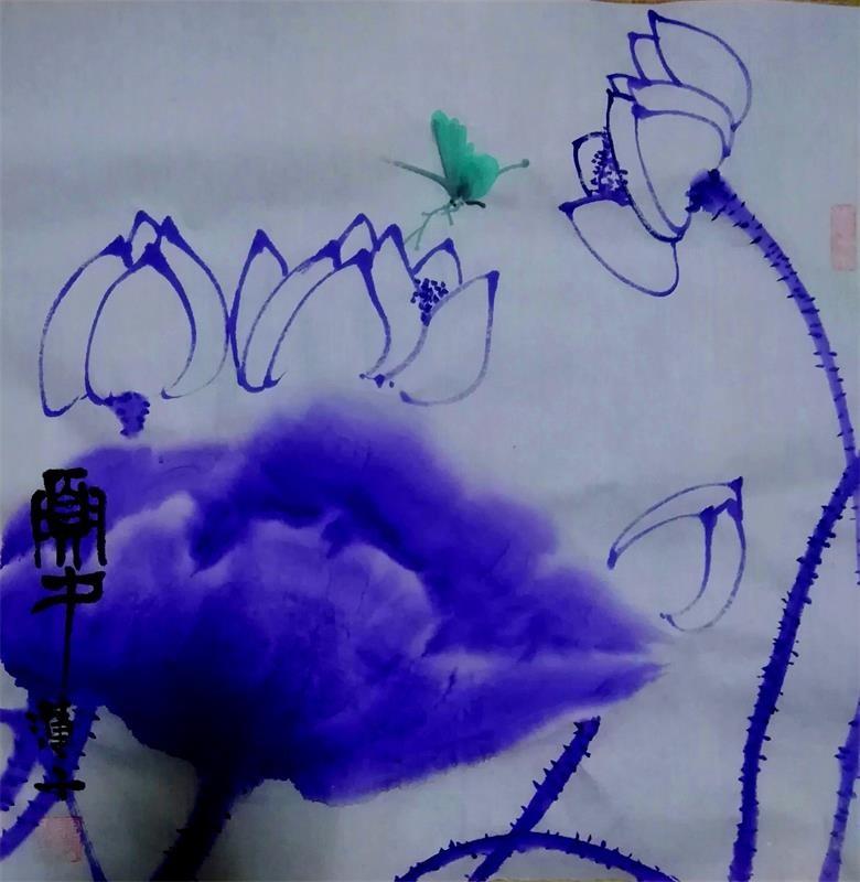 中国浪漫主义意象画派创始人张炳瑞香新作品<荷舞风香》_图1-1