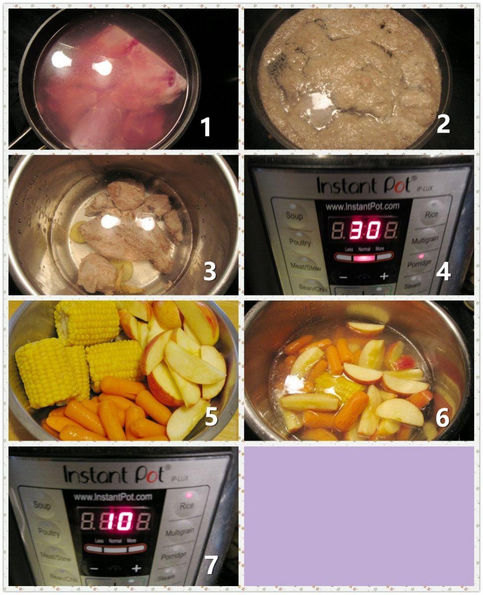 猪骨苹果玉米汤_图1-2