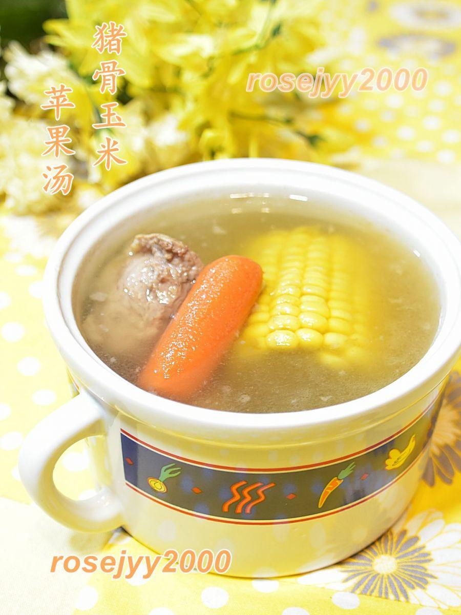 猪骨苹果玉米汤_图1-3