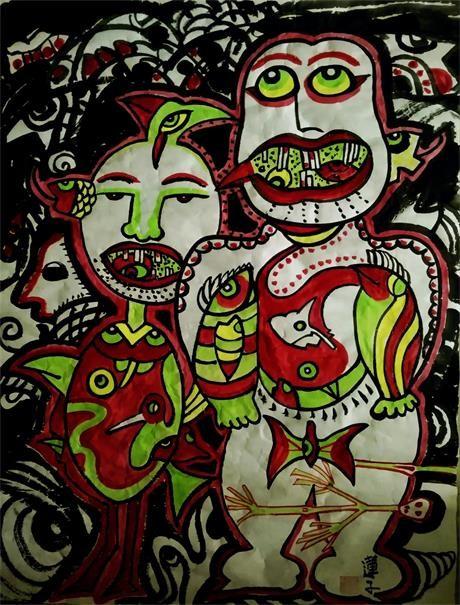 浪漫主义意象画派创始人张炳瑞香批判性作品《病毒之伤》_图1-1