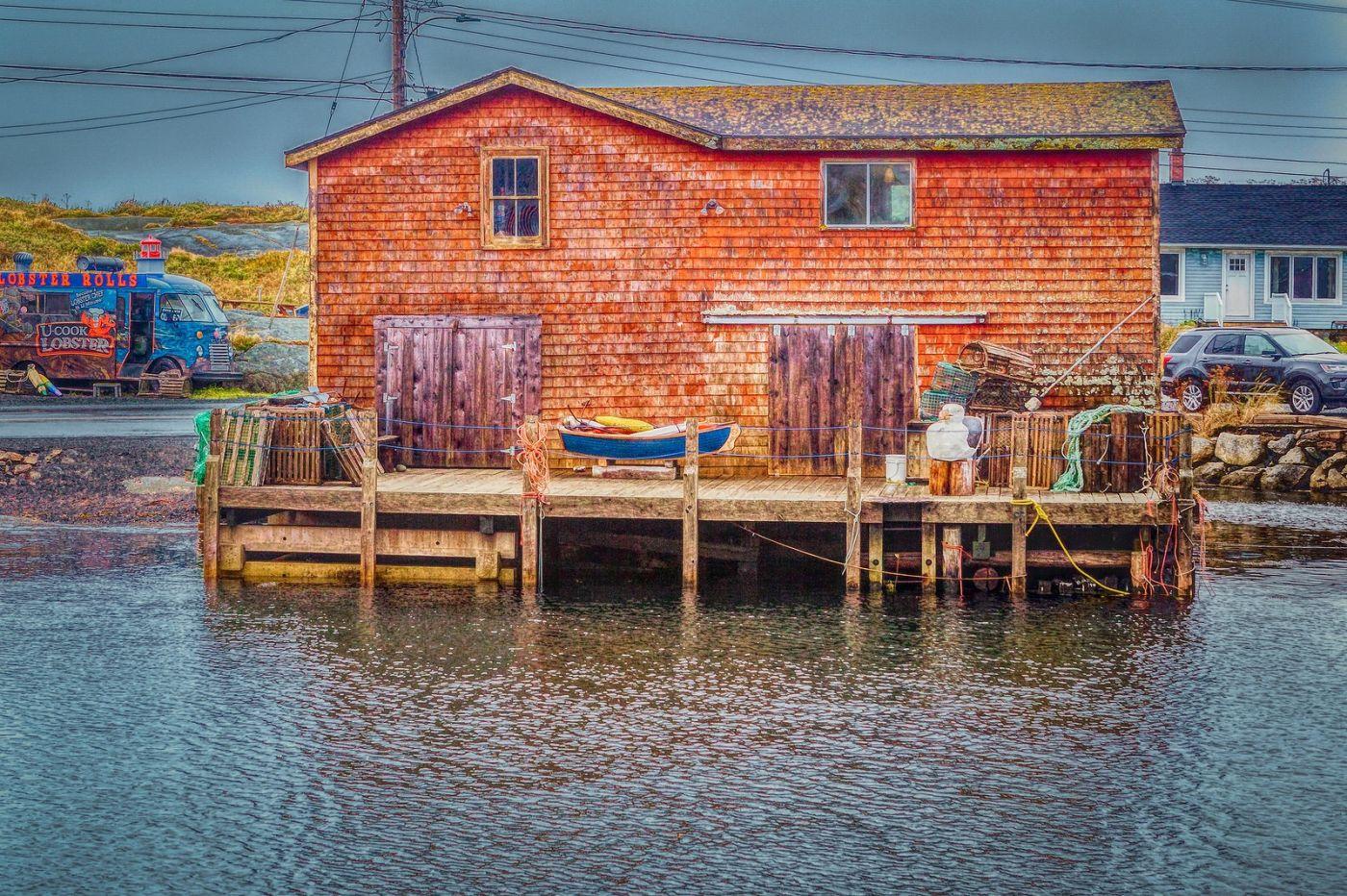 加拿大佩吉海湾(Peggys Cove),渔村生活_图1-21