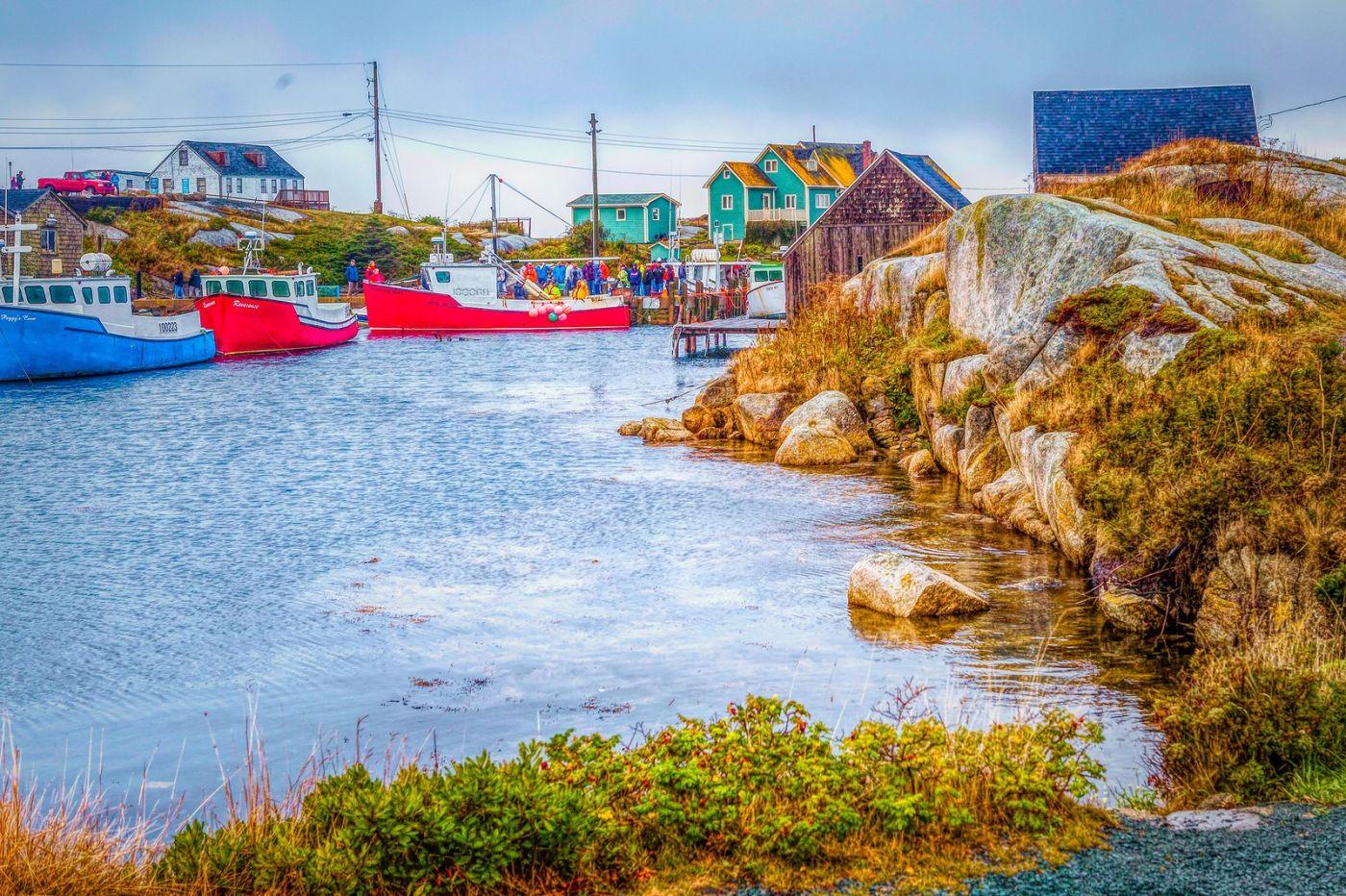 加拿大佩吉海湾(Peggys Cove),渔村生活_图1-9