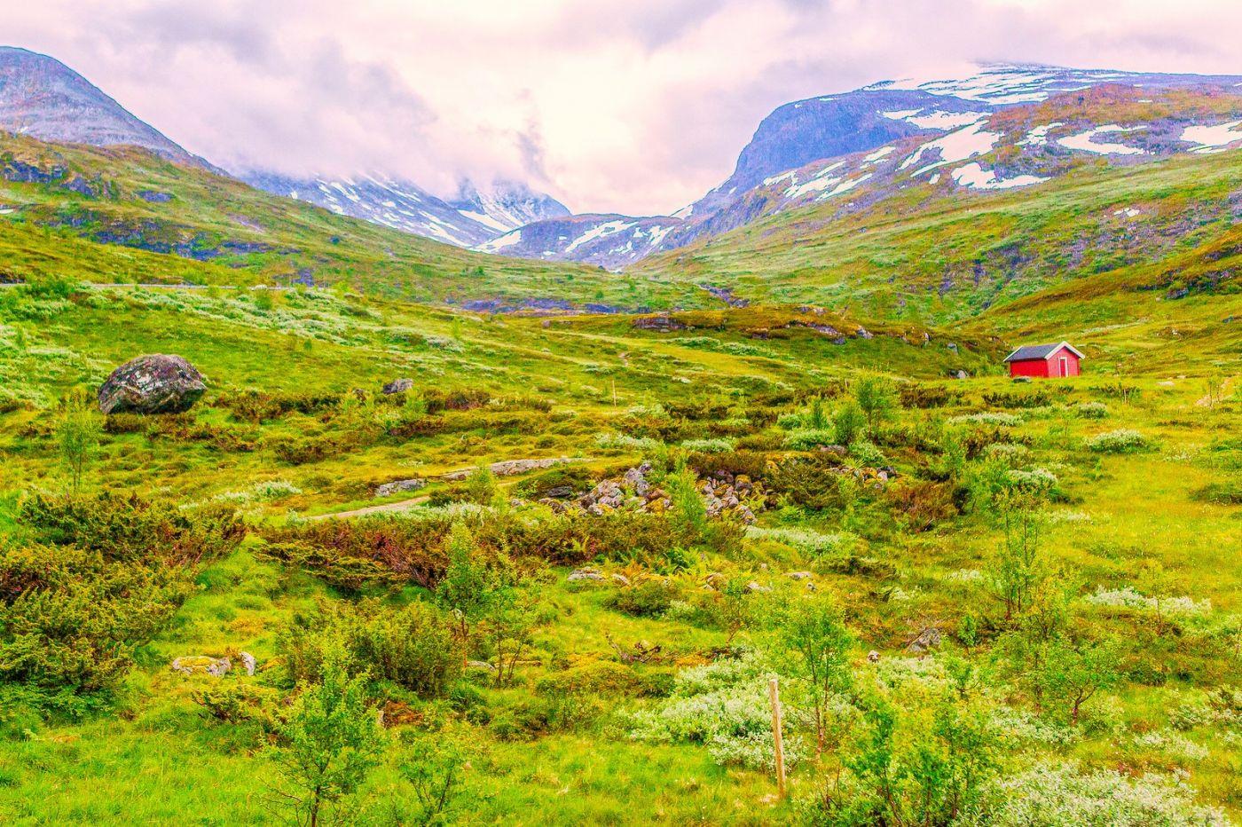北欧风光,高山残雪_图1-40