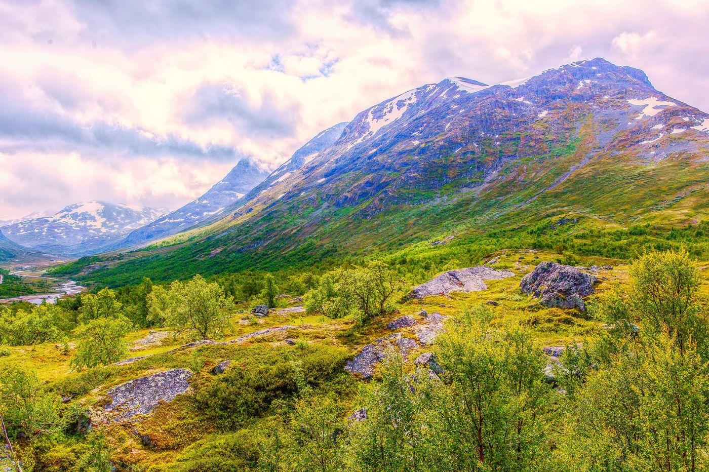 北欧风光,高山残雪_图1-38