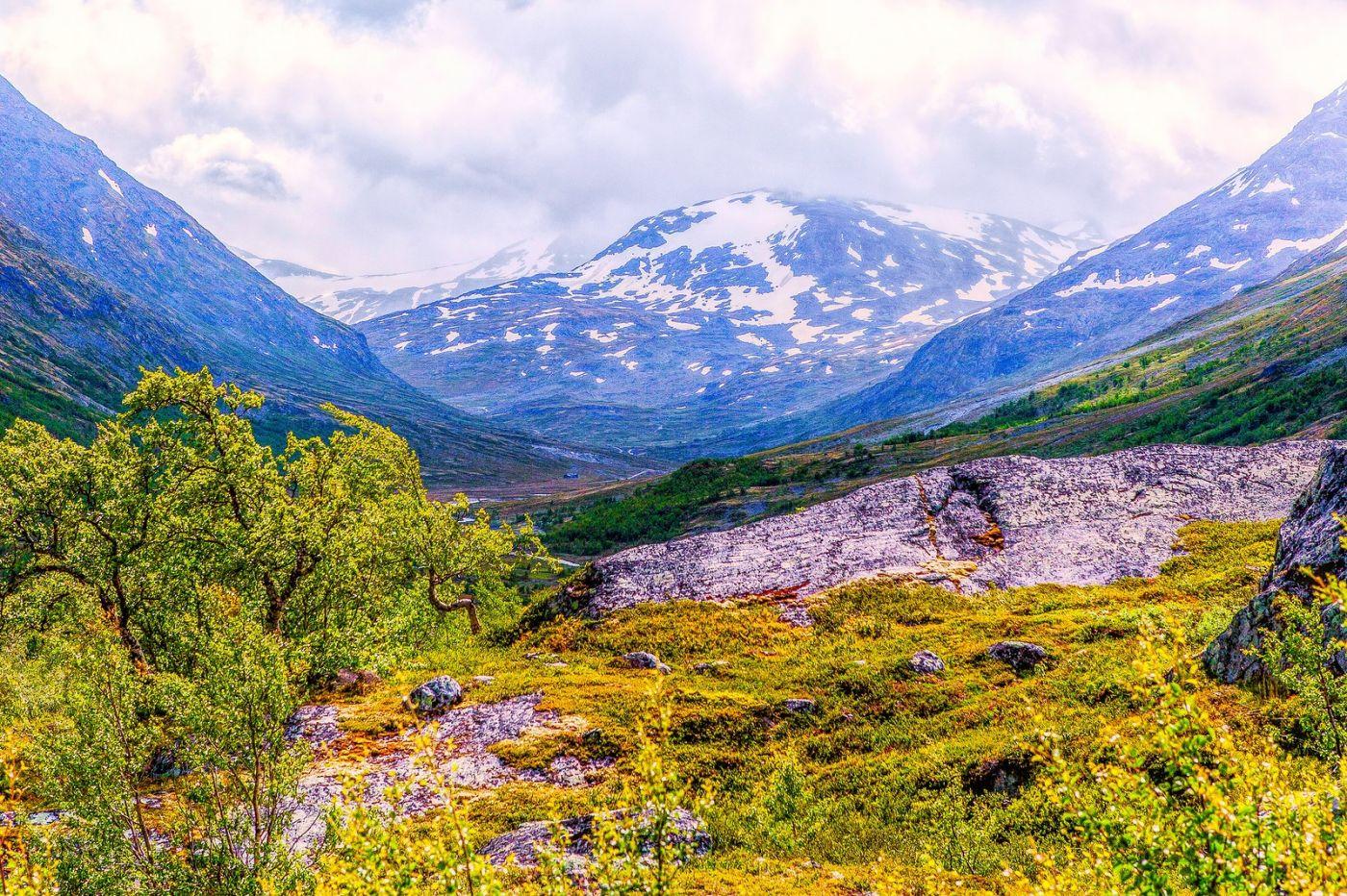 北欧风光,高山残雪_图1-39
