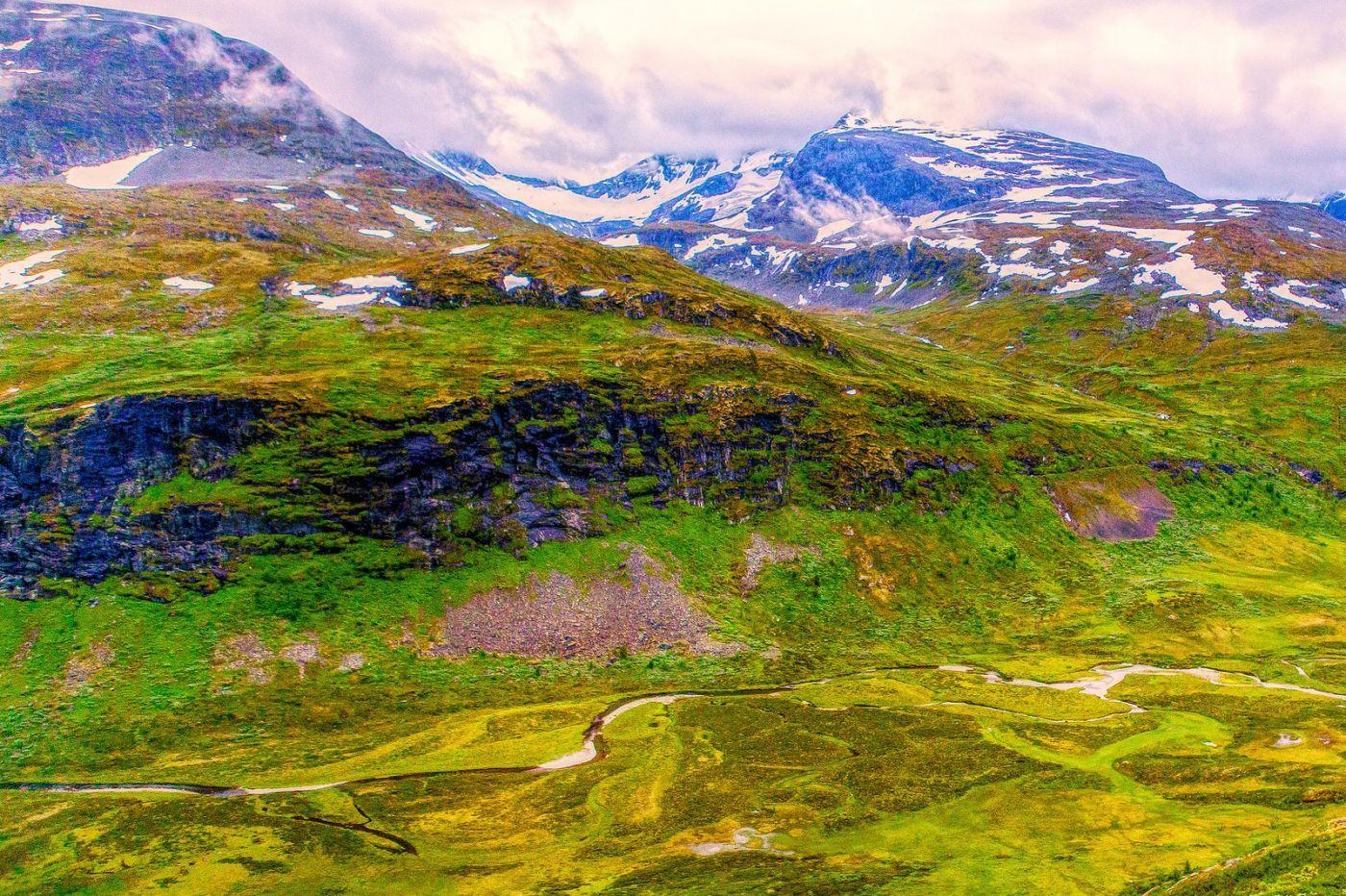 北欧风光,高山残雪_图1-5