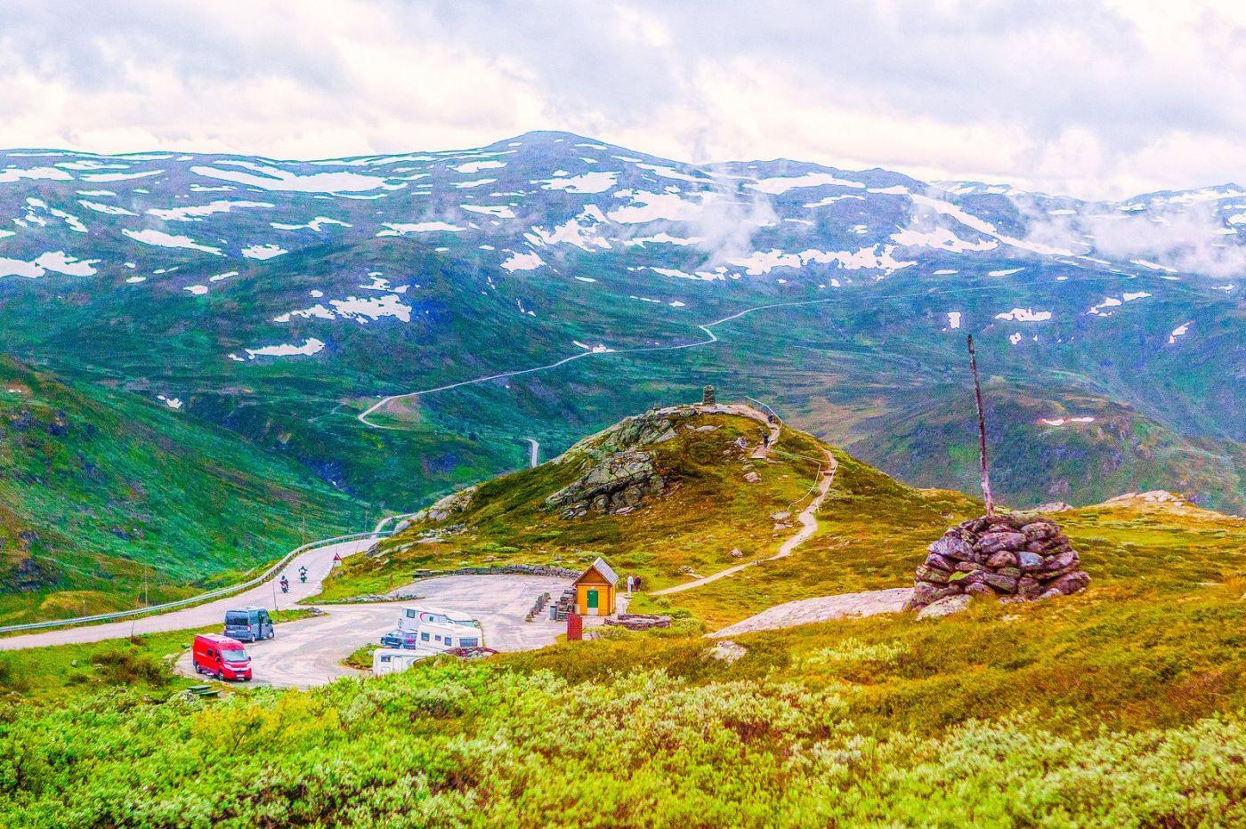 北欧风光,高山残雪_图1-6
