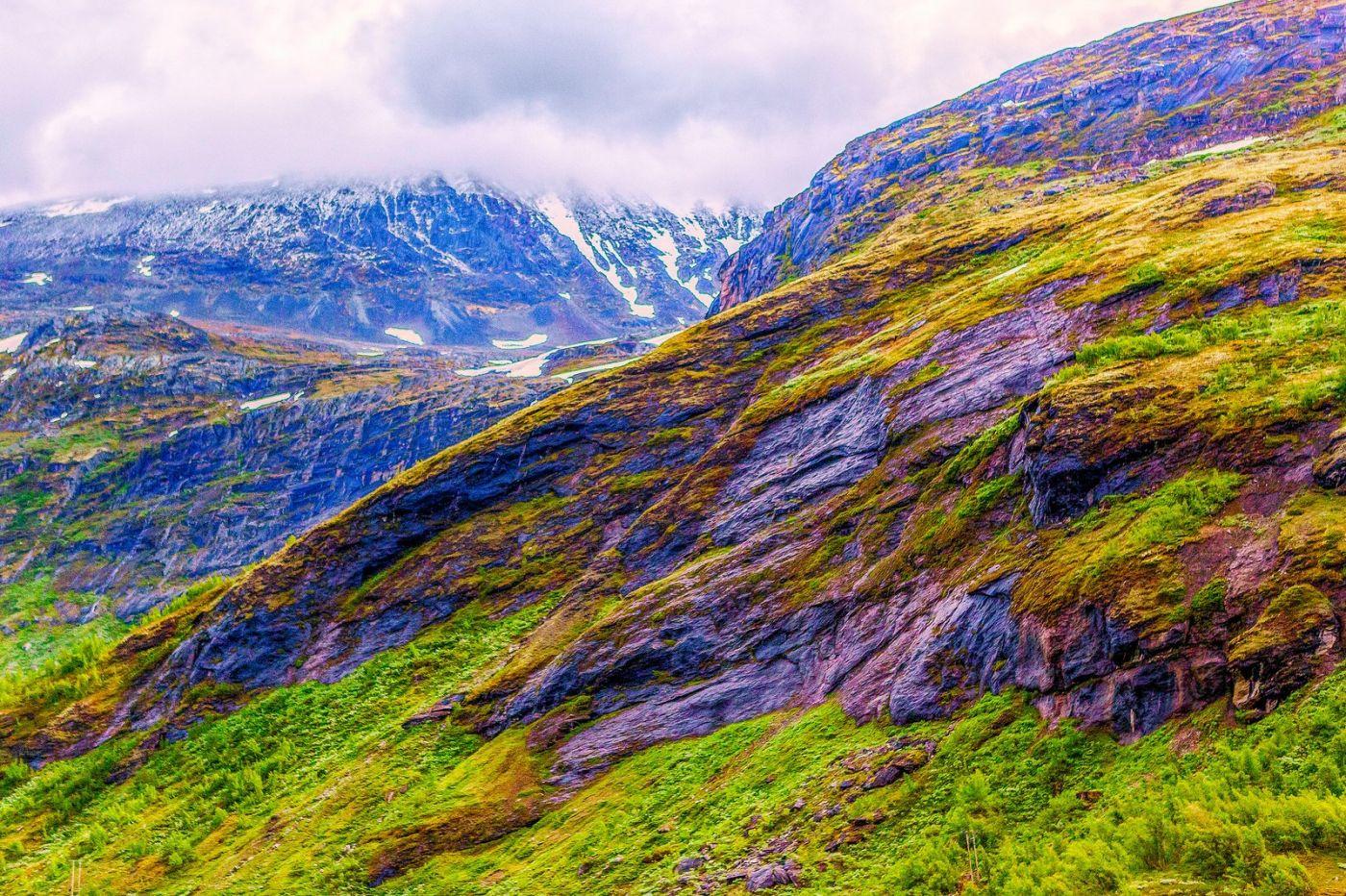 北欧风光,高山残雪_图1-2