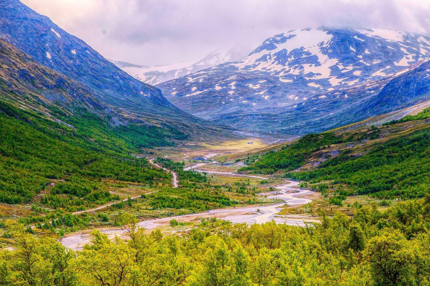 北欧风光,高山残雪_图1-13