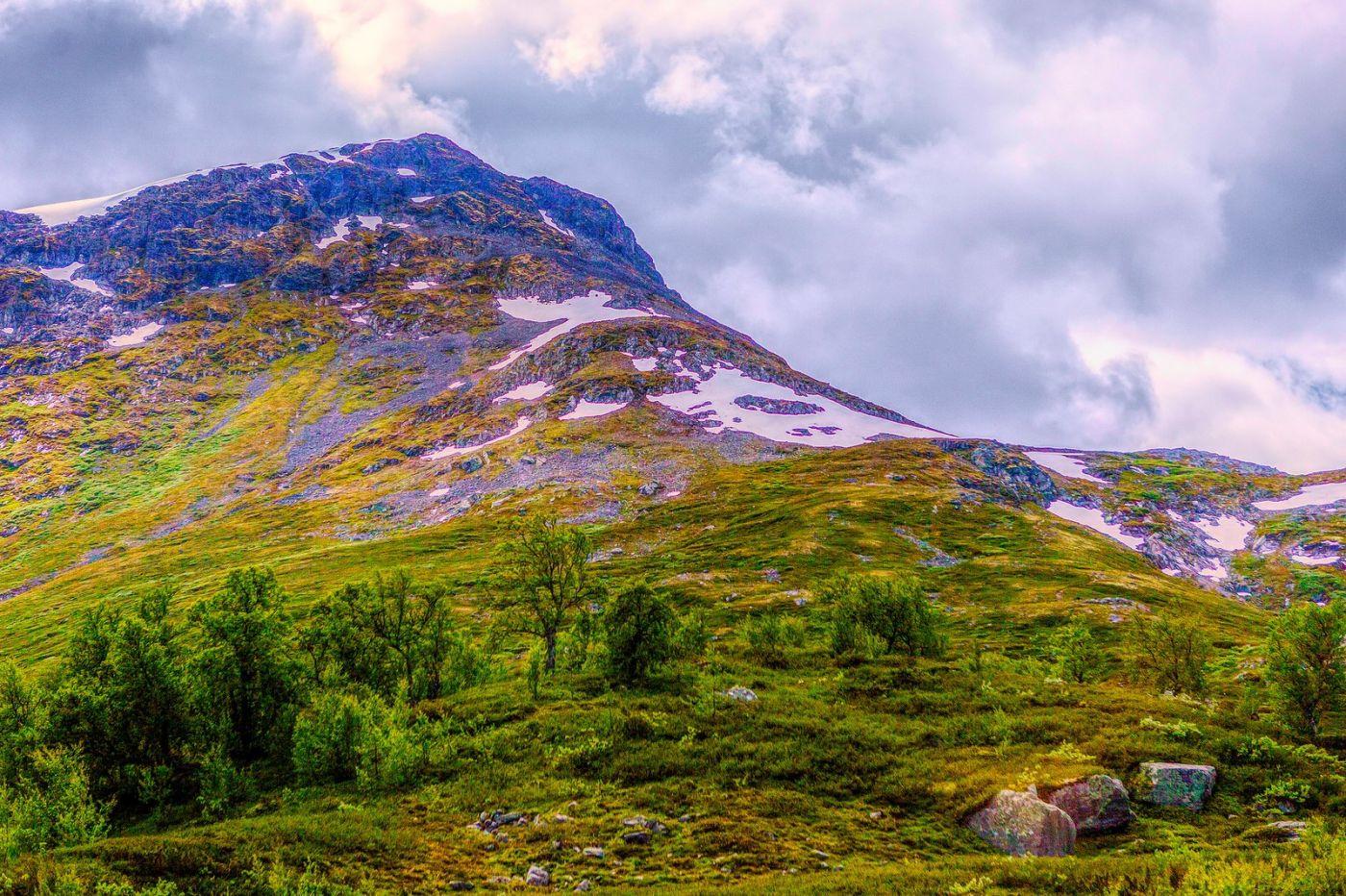北欧风光,高山残雪_图1-9