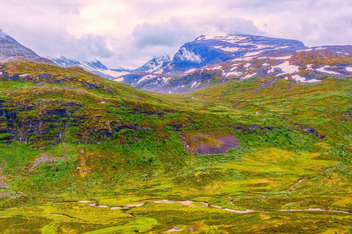 北欧风光,高山残雪_图1-16