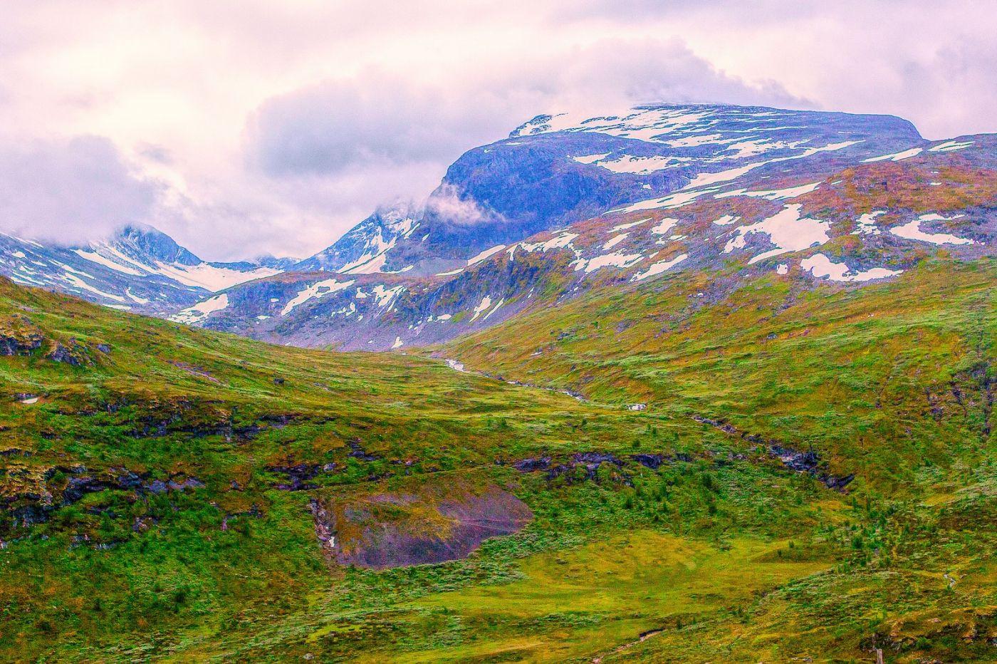 北欧风光,高山残雪_图1-19